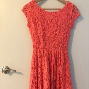 Orange Lace Dress